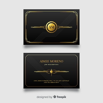 Modello di biglietto da visita elegante nero
