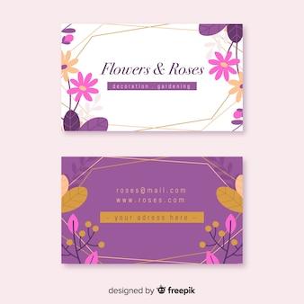 Modello di biglietto da visita floreale