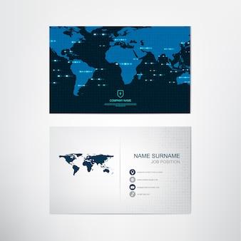 Modello di biglietto da visita globale, contatto e carta dell'azienda