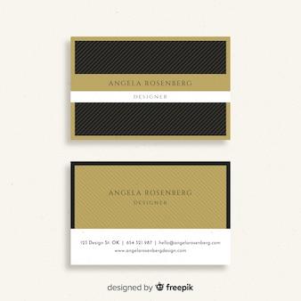 Modello di biglietto da visita in design elegante