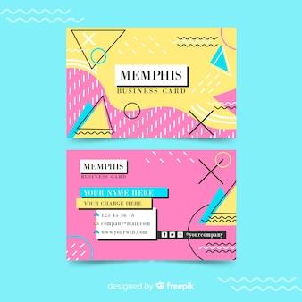 Modello di biglietto da visita in stile memphis