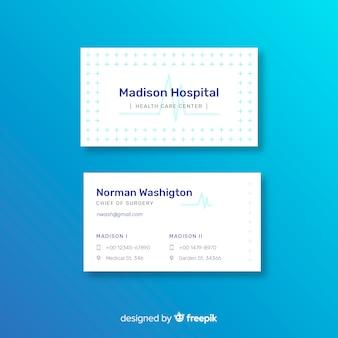 Modello di biglietto da visita medico con stile moderno
