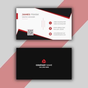 Modello di biglietto da visita moderno rosso