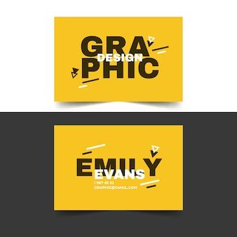 Modello di biglietto da visita per graphic designer in toni duo