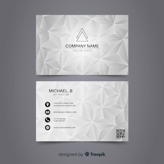 Modello di biglietto da visita poligonale astratto