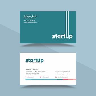 Modello di biglietto da visita professionale azienda startup