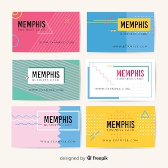 Modello di biglietto da visita stile memphis