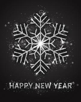 Modello di biglietto di auguri di felice anno nuovo