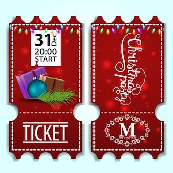 Modello di biglietto di festa di natale con regali
