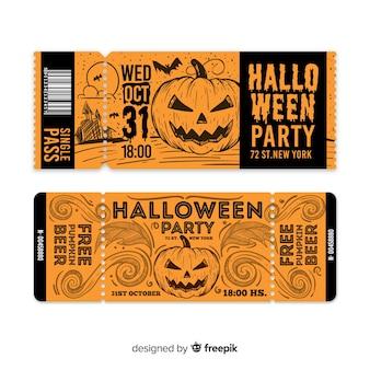 Modello di biglietto di halloween creativo