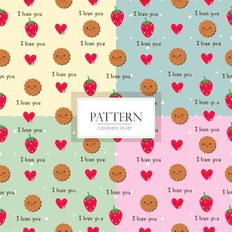 Modello di biscotti carino