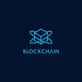 Modello di blocco icona logo catena