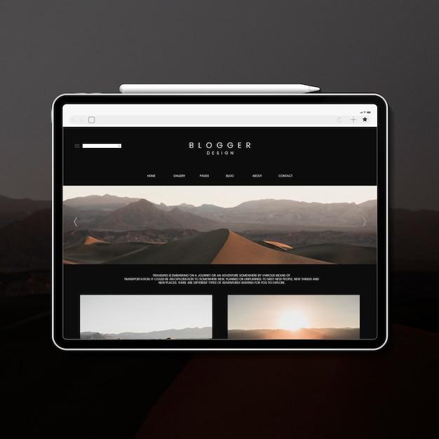Modello di blog di viaggio