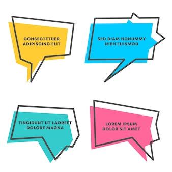 Modello di bolla di discorso colorato preventivo