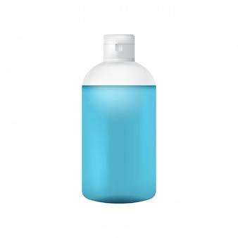 Modello di bottiglia di plastica pulita per sapone liquido