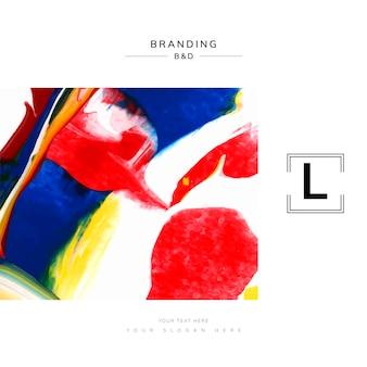 Modello di branding artistico quadrato