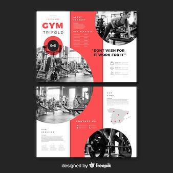 Modello di brochure a tre ante palestra