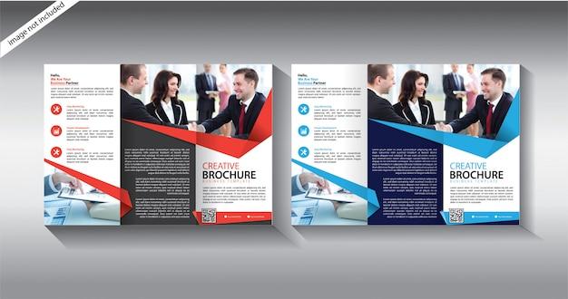 Modello di brochure a tre ante per volantino di layout