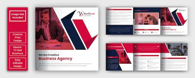 Modello di brochure a tre ante quadrato aziendale