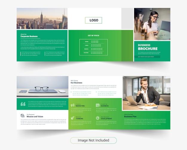 Modello di brochure a tre ante quadrato creativo semplice