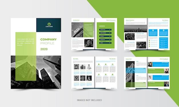 Modello di brochure aziendale aziendale verde