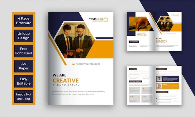Modello di brochure aziendale bi piega