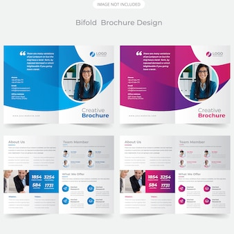 Modello di brochure aziendale bifold
