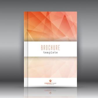 Modello di brochure aziendale con un disegno astratto