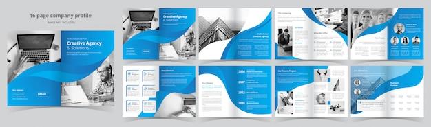 Modello di brochure aziendale di pagine