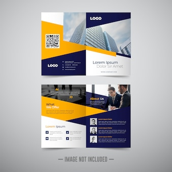 Modello di brochure aziendale due volte