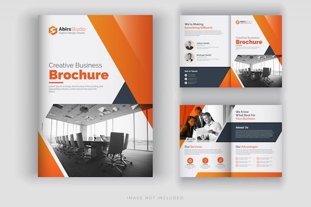 Modello di brochure aziendale o profilo aziendale