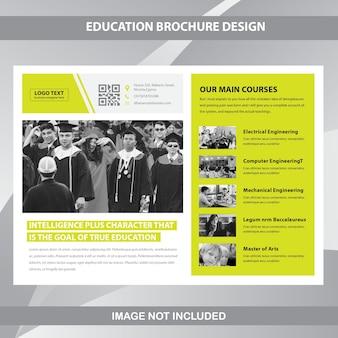 Modello di brochure aziendale orizzontale