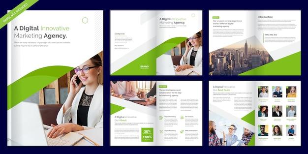 Modello di brochure aziendale pagina