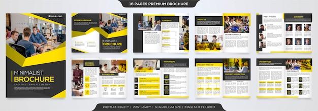 Modello di brochure aziendale premium