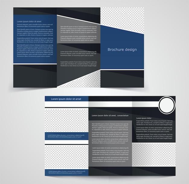 Modello di brochure aziendale ripiegabile, modello di progettazione su due lati
