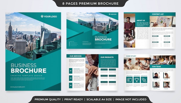 Modello di brochure aziendale stile premium