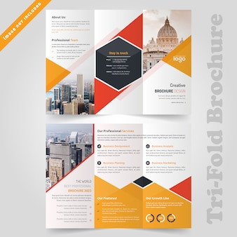 Modello di brochure aziendale trfiold