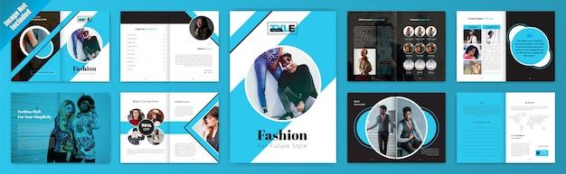 Modello di brochure banner di moda per stile futuro con ritratto