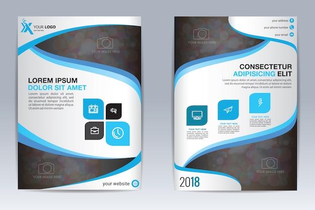 Modello di brochure, banner e flyer design opuscolo