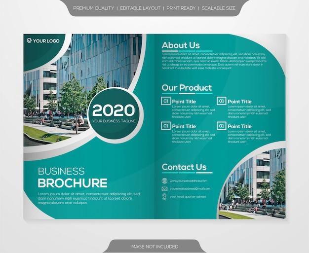 Modello di brochure bifold