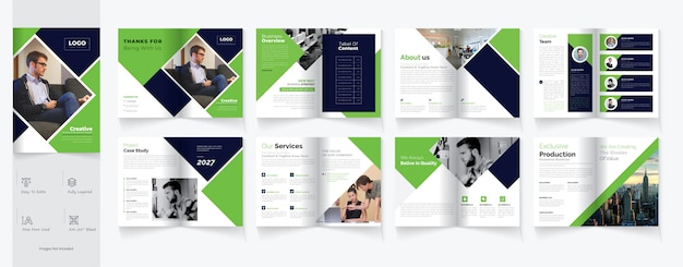 Modello di brochure business bifold