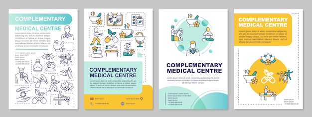 Modello di brochure del centro medico complementare