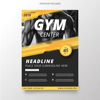 Modello di brochure del centro palestra