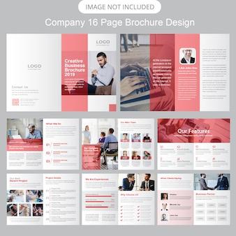 Modello di brochure del profilo aziendale