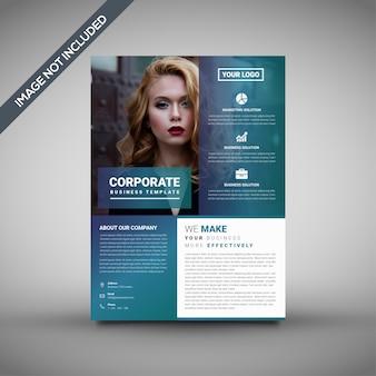 Modello di brochure design, modello di volantino unico