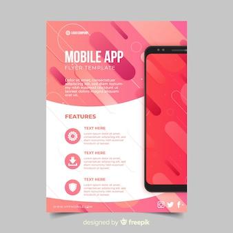 Modello di brochure di applicazione piatta