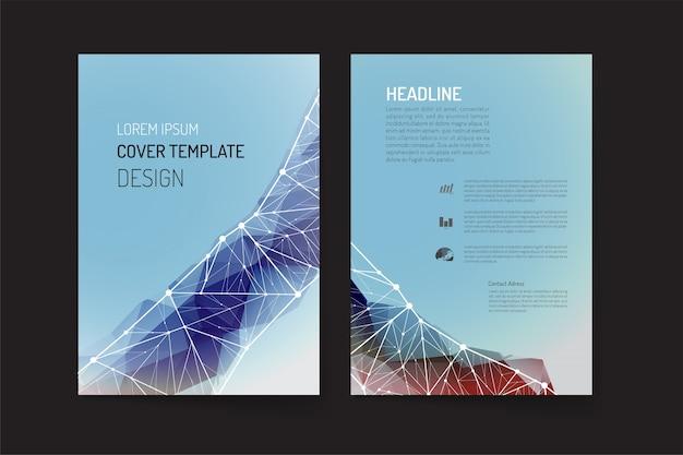Modello di brochure e disegno di sfondo