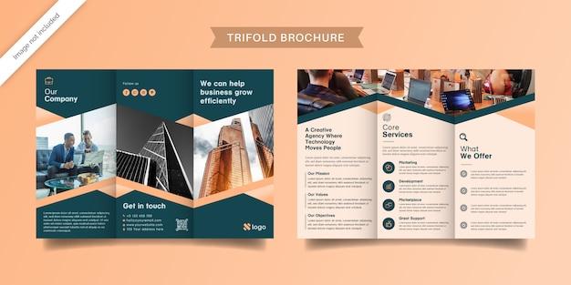 Modello di brochure elegante a tre ante
