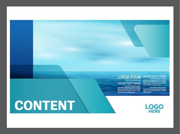 Modello di brochure flyer estate blu mare