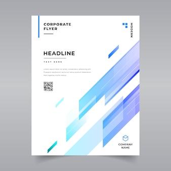 Modello di brochure geometriche minimal